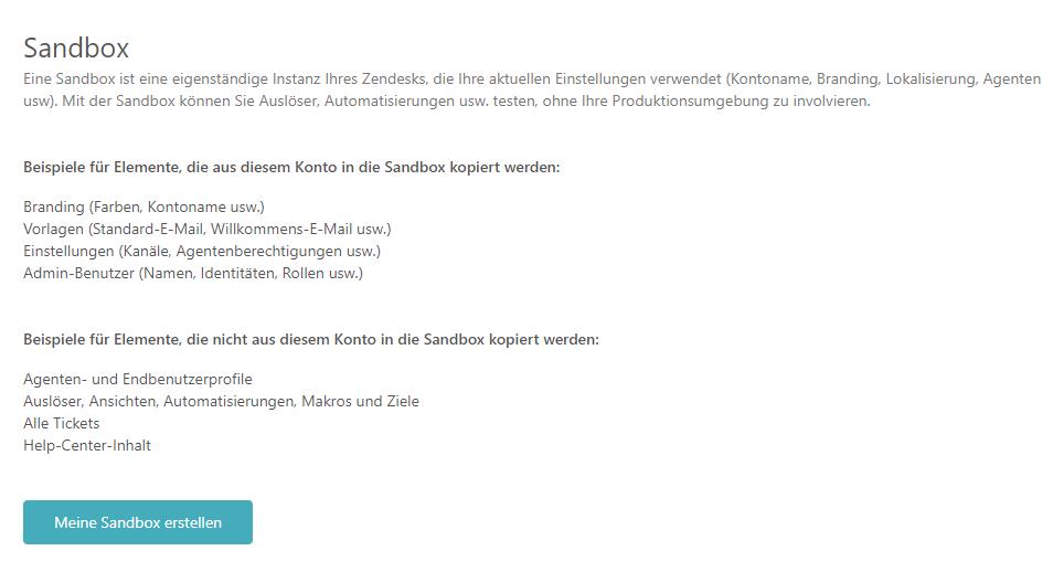 Testen von Änderungen in Ihrer Sandbox (Enterprise) – Zendesk Support