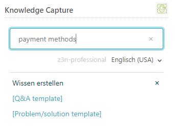 Verwendung der app knowledge capture zendesk support for Knowledge capture template