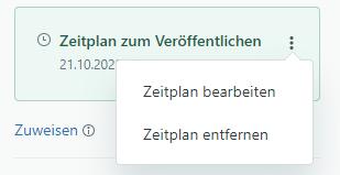 """Menü """"Zeitplan zum Veröffentlichen/Aufheben der Veröffentlichung"""""""