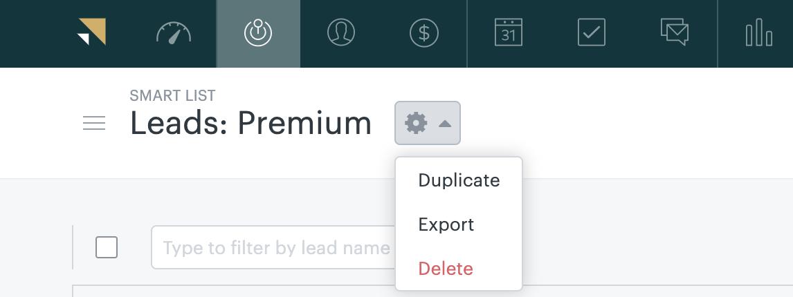 Sell – Smart List duplizieren