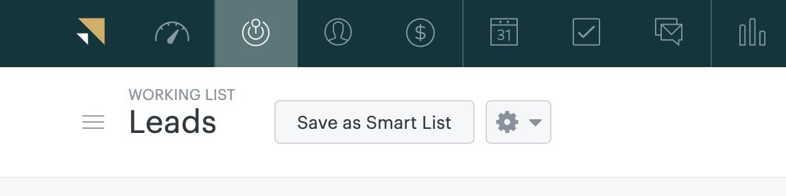 Sell – Als Smart List speichern