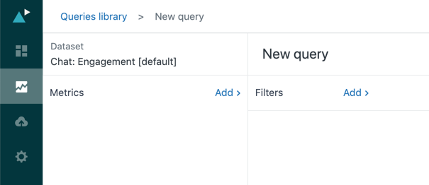 Query builder with Chat dataset loaded