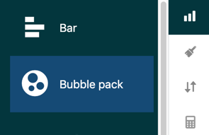 Choosing the bubble pack chart type