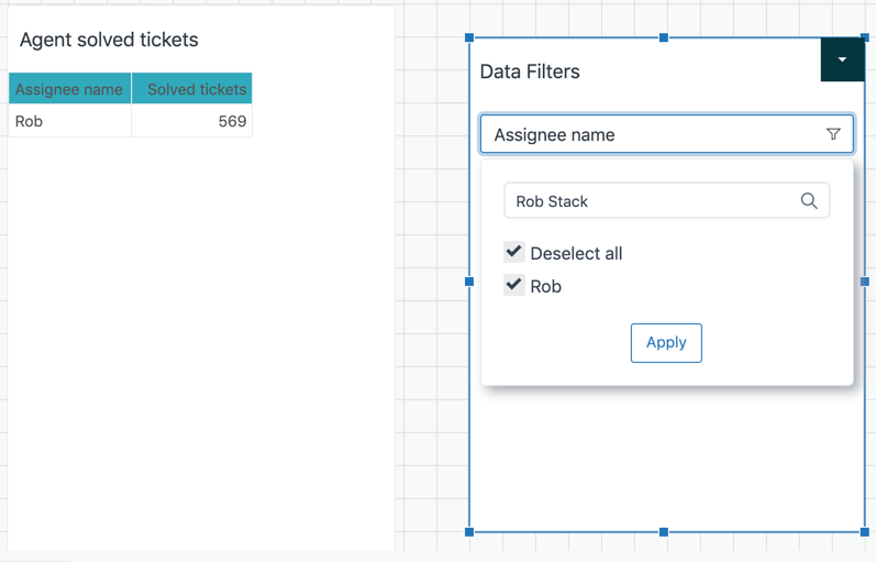Explore data filter example