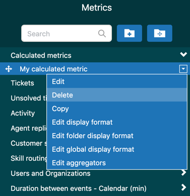 Delete custom metric or attribute
