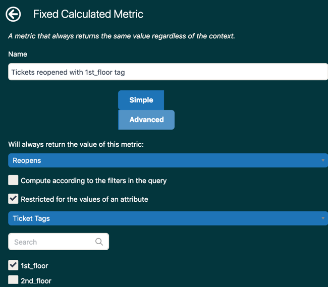 Explore fixed metric example.