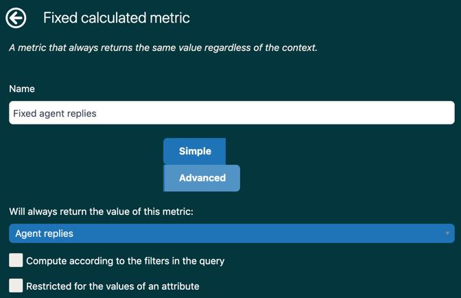Exploreの固定ユーザー定義メトリックの例