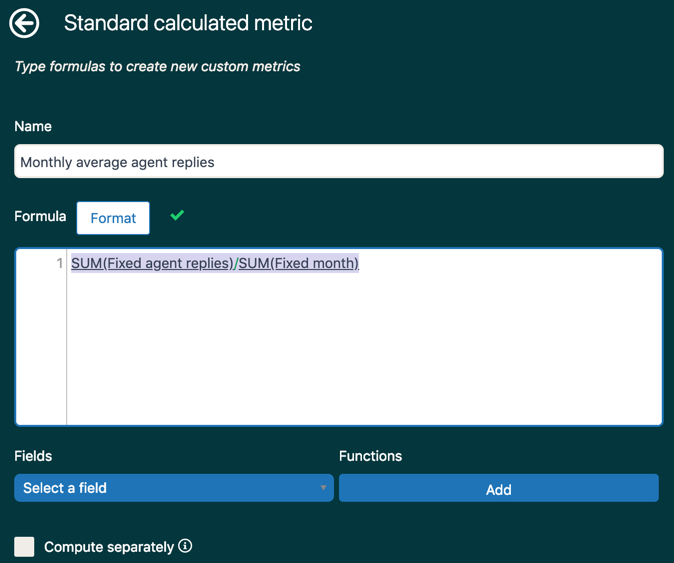 Explore standard metric from fixed values