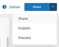 Explore share dashboard button