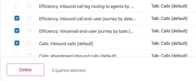 Bulk delete queries example