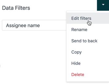 Editing a filter