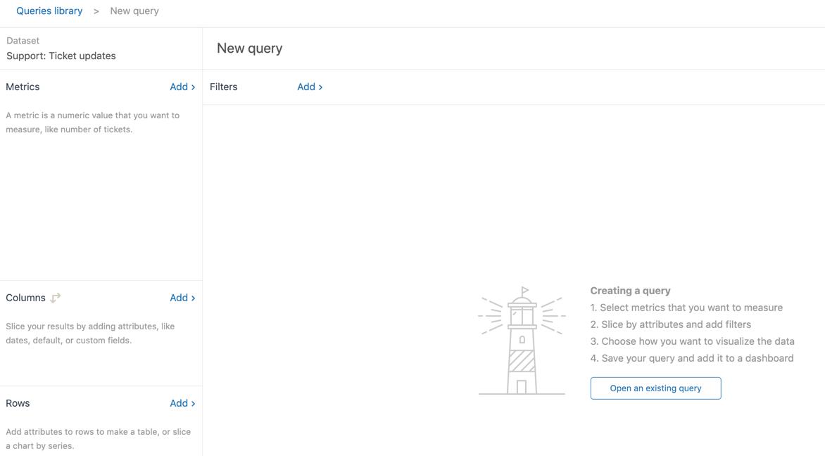 Explore query builder window