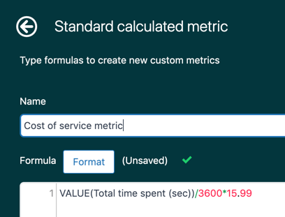 Explore ticket time custom metric