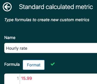 Explore simple hourly rate metric