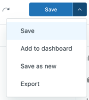 Query saving options.