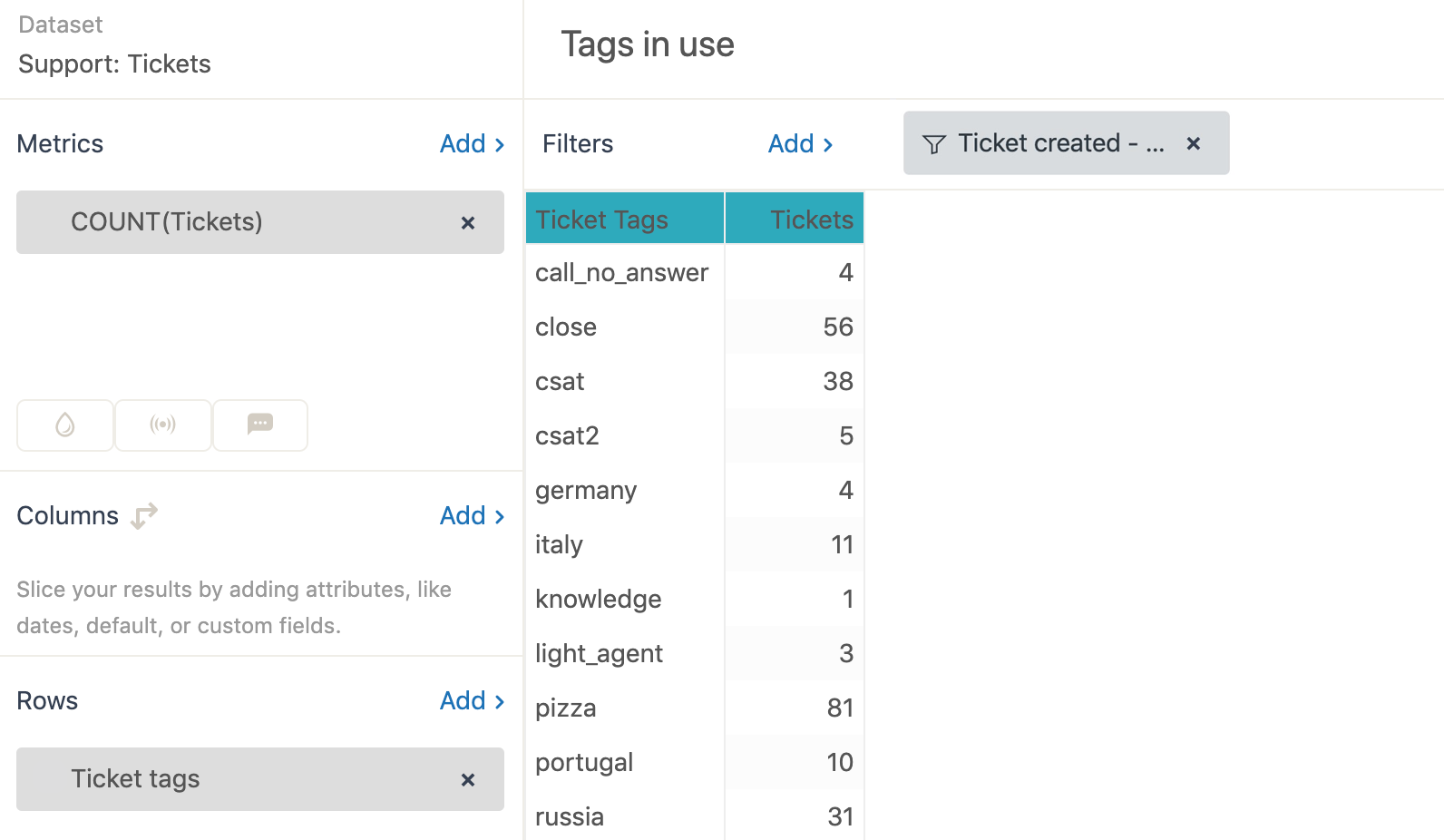 Explore simple tags example