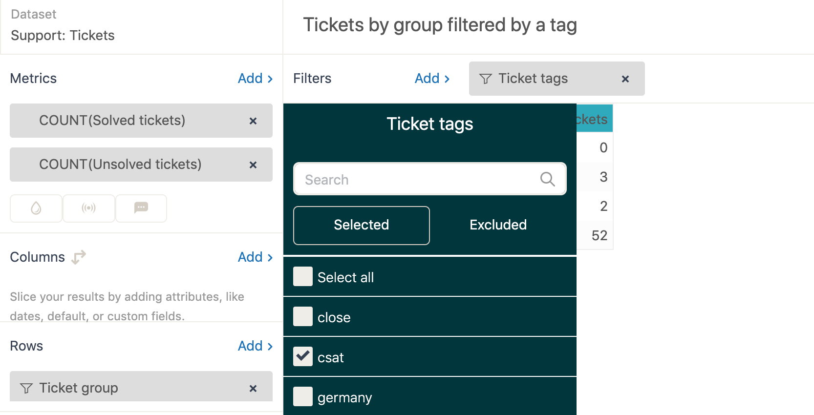 Explore specific tag example