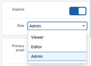 Exploreのユーザー権限