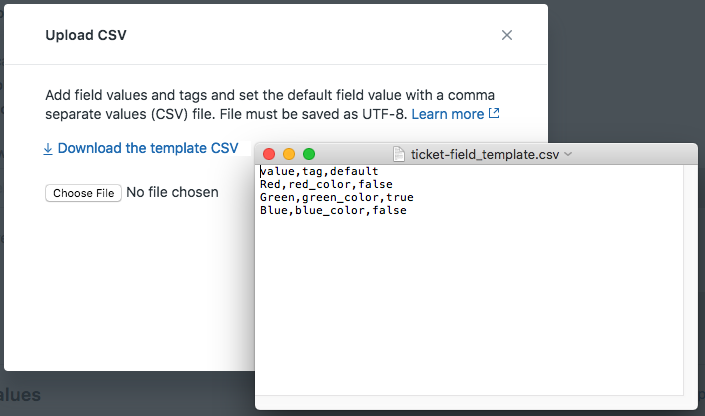 Importing and exporting values for ticket fields – Zendesk help