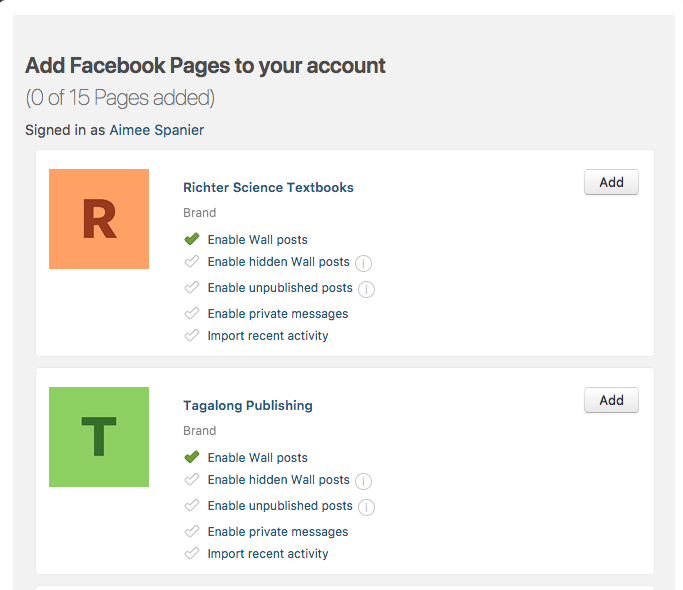 hook up pages on facebook