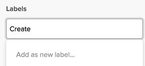 Add new label