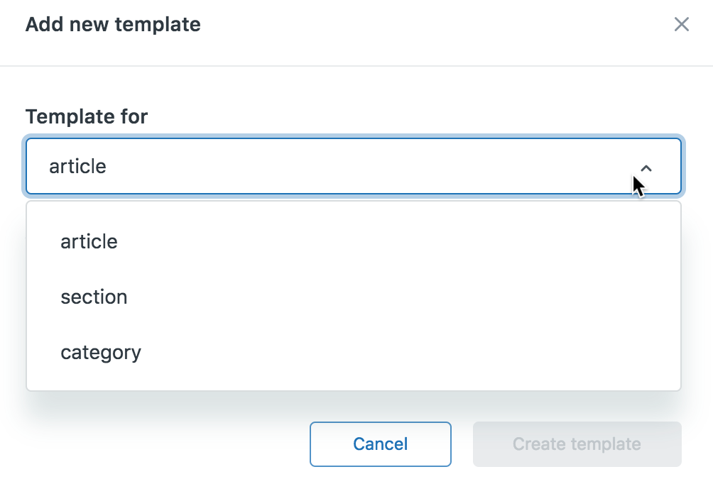 Add a template