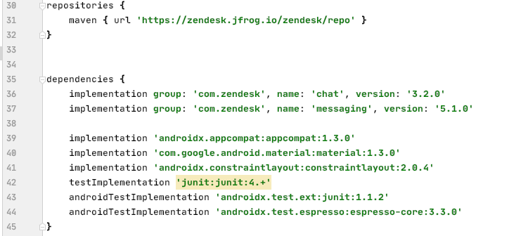 Quick start - Chat SDK for Android – Zendesk Develop