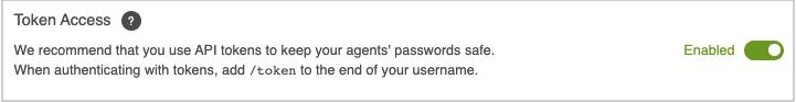 Enable API token access