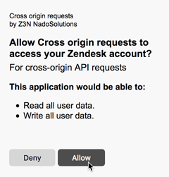 Making cross-origin, browser-side API requests – Zendesk Develop