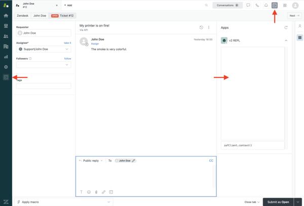 Zendesk app quick start – Zendesk Develop
