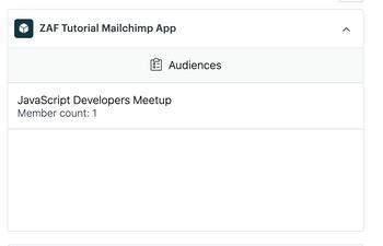 App with Mailchimp audiences list