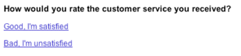 CSAT email