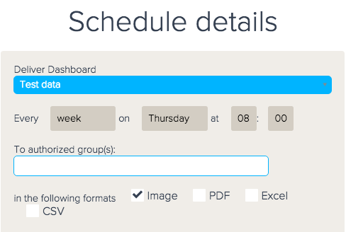 delivery schedule format