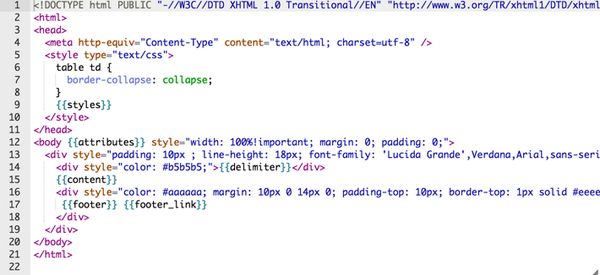 How to write html code for email signature for Html code for email template