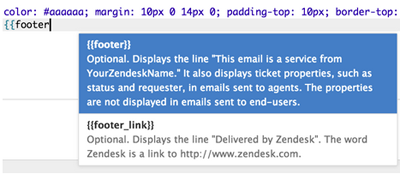 customizing templates for your email notifications zendesk support