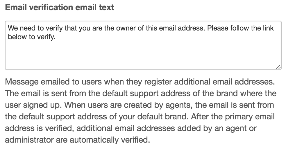 Customizing End User Account Emails Zendesk Support