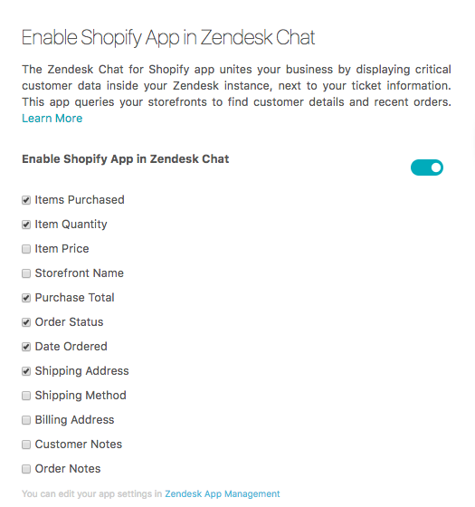 Setting up Chat for Shopify – Zendesk help