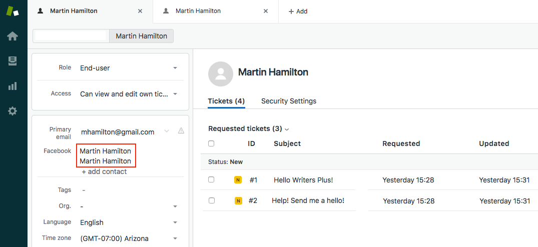 Changes to Facebook user identities in Zendesk Support