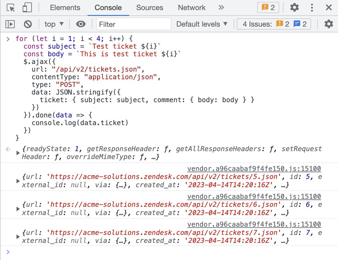 Zendesk API quick start – Zendesk Develop