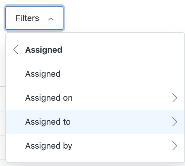 Guide articles Assigned to me filter