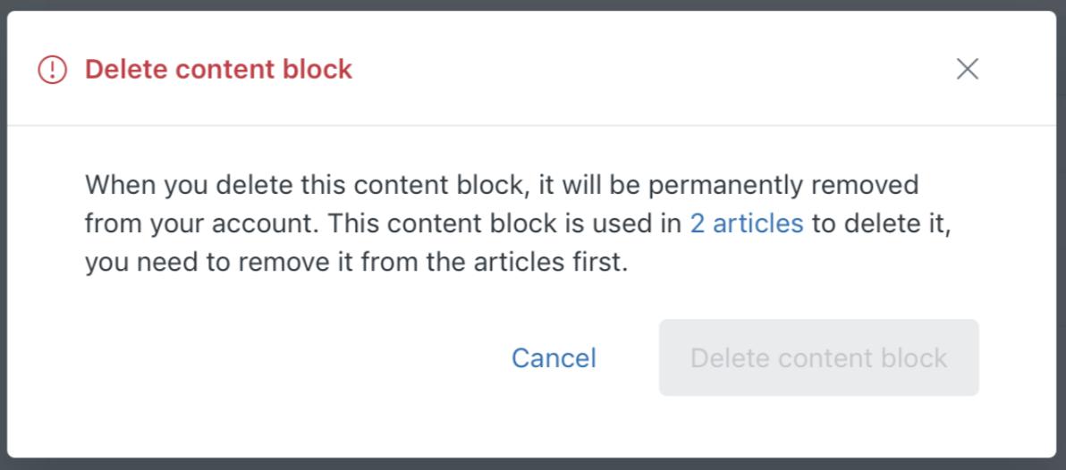 Guide content block confirm deletion