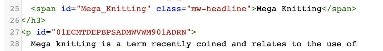 Guide content blocks alphanumeric ID