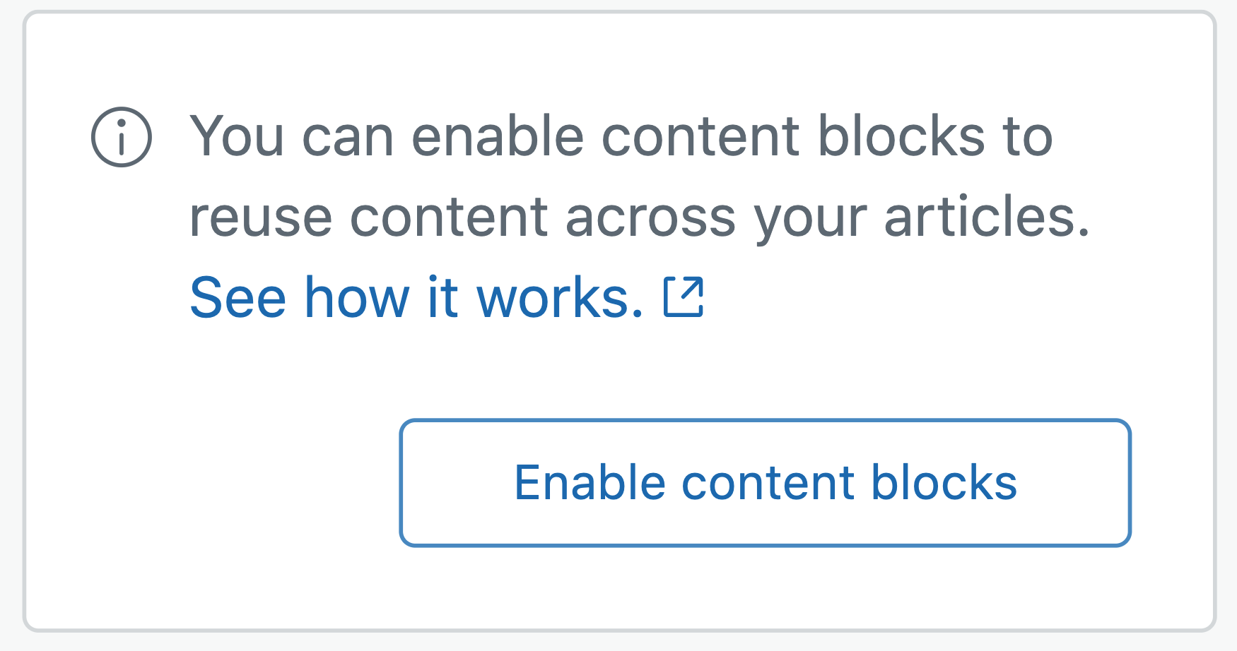 Guide enable content blocks