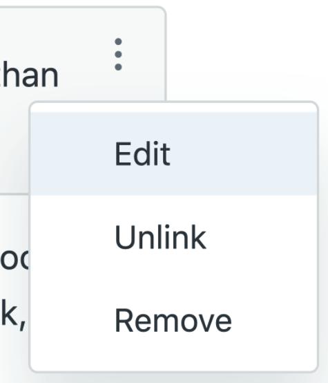 Guide content blocks menu