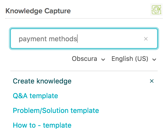Creating articles with the knowledge capture app guide for Knowledge capture template