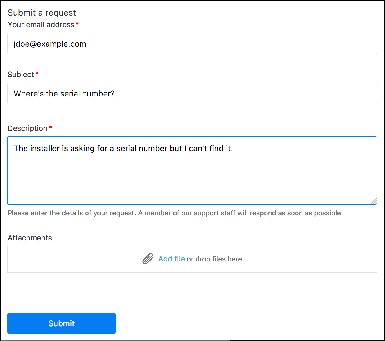 Line support email