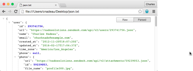 Working with JSON – Zendesk Develop