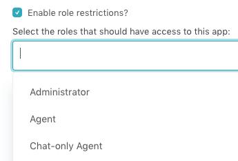 Settings roles