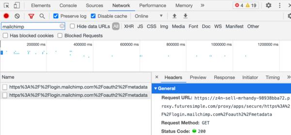 Mailchimp metadata request status
