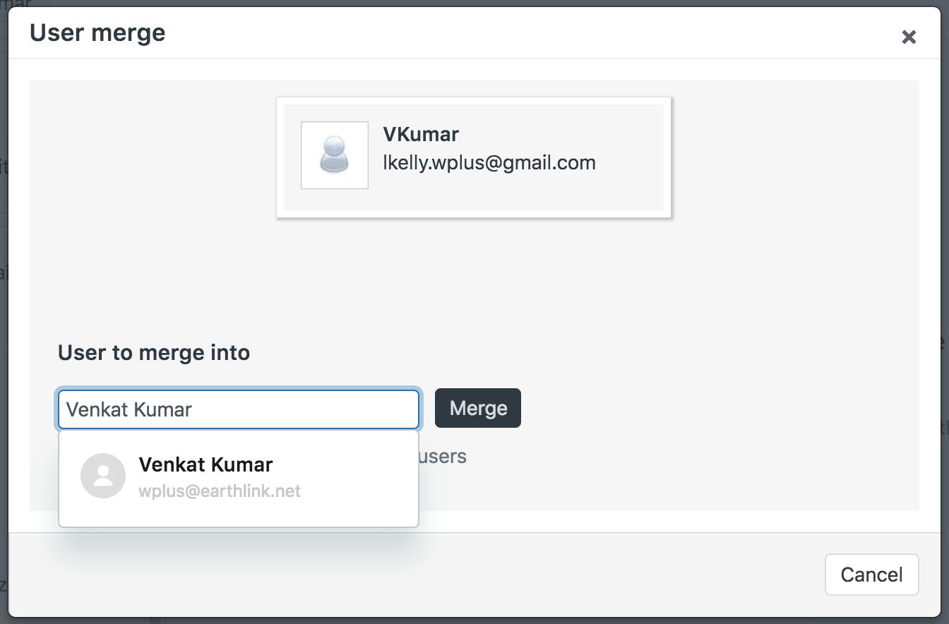 Merging a user's duplicate account – Zendesk help